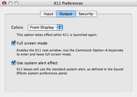 X11 for Mac OS Xをフルスクリーンモードで動作させる方法