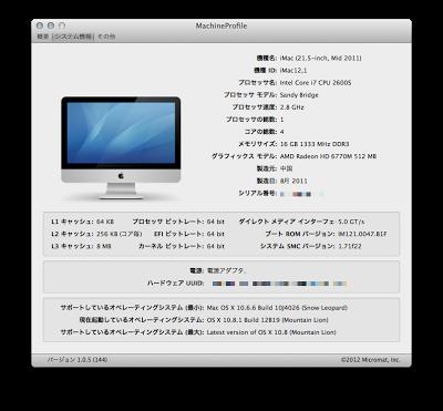 自分が使っているMacのスペックを確認したい