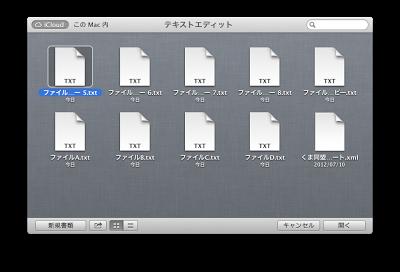 iCloud上のファイルを整理したい