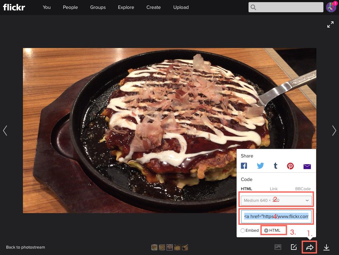 Tumblrの画像はFlickrから貼り付けることにしました