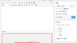 WordPressで「Post Revisions」を表示させる方法