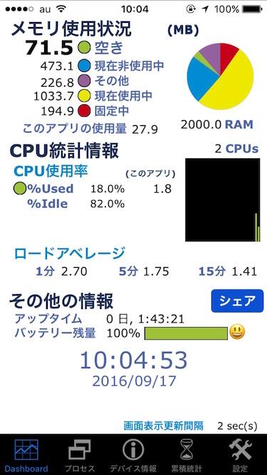 iPhone 7メモリ